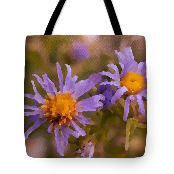 Impressionistic Asters Tote Bag