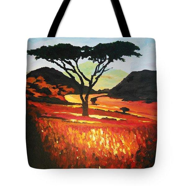 Impressionistic Dark Side Tote Bag