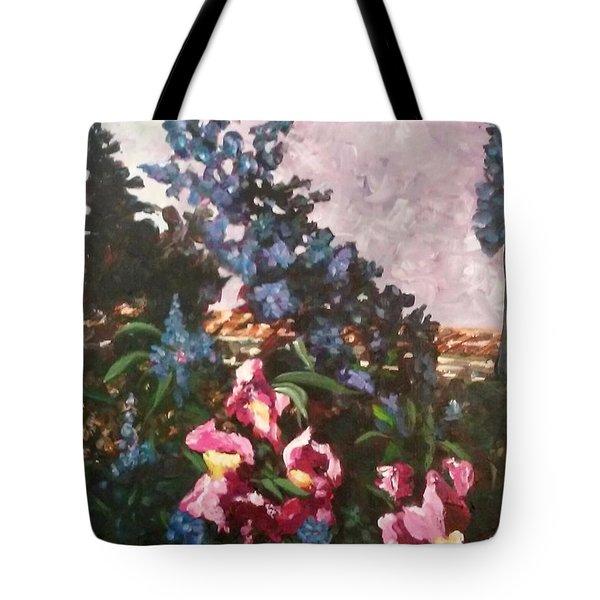 Impressionistic Flowers Tote Bag