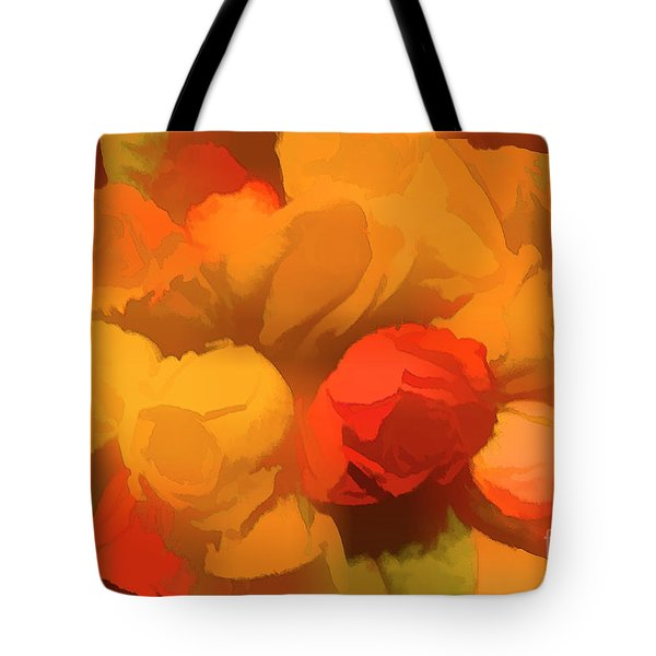 Impressionistic Gold Rose Bouquet Tote Bag