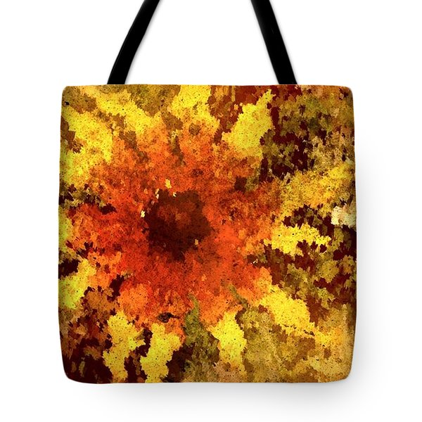 Impressionistic Petals Tote Bag