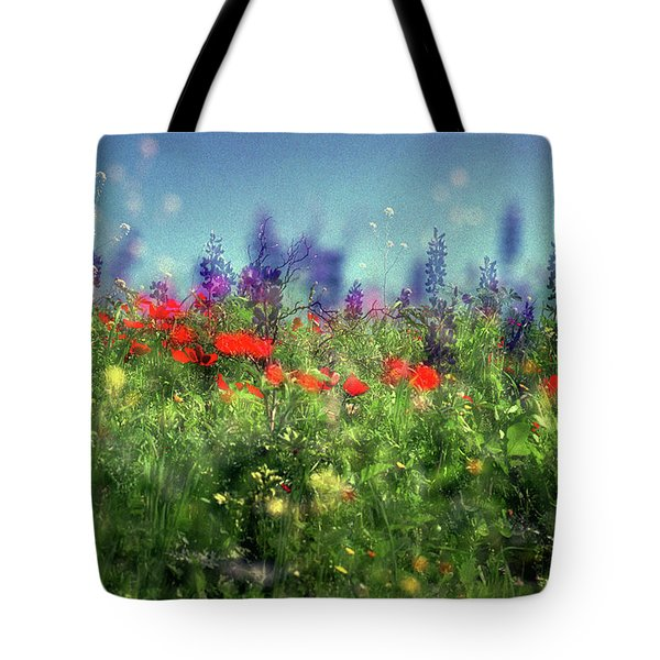 Impressionistic Springtime Tote Bag by Dubi Roman