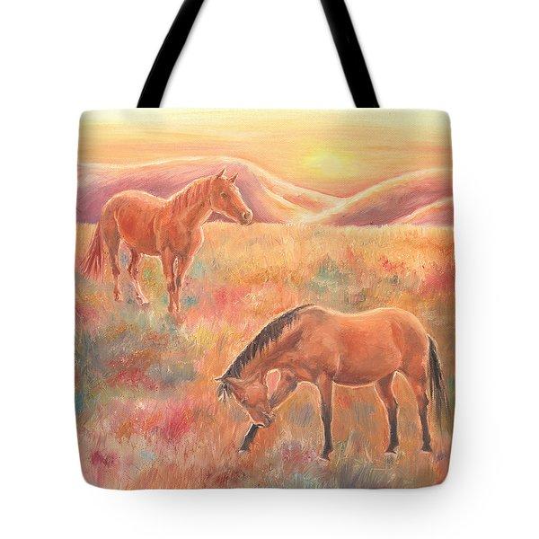 Impressions At Sunset Tote Bag