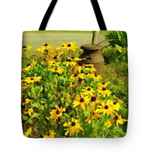 Impressions Of A Country Garden Tote Bag