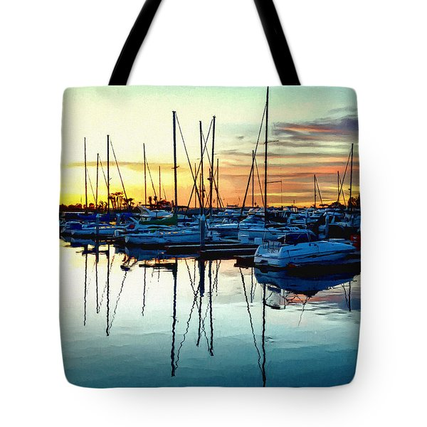 Tote Bag featuring the photograph Impressions Of A San Diego Marina by Glenn McCarthy Art and Photography