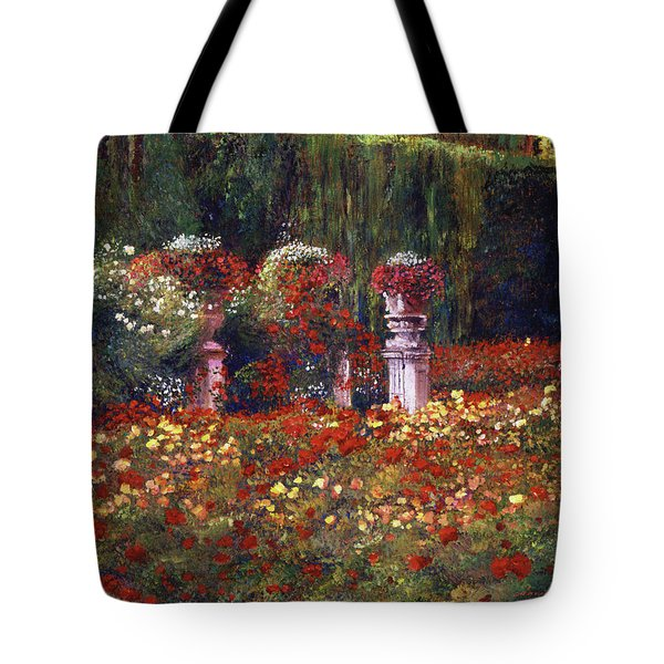 Impressions Of An English Rose Garden Tote Bag