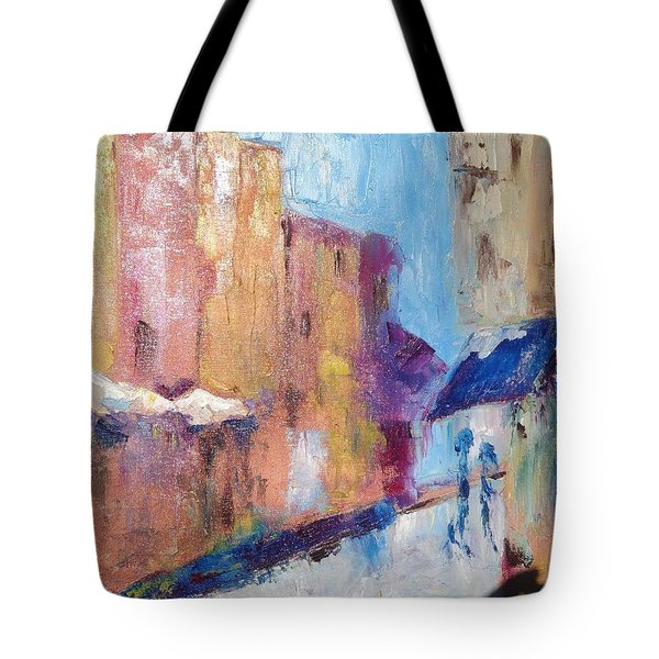Impressions Of Monte Martre, Paris Tote Bag