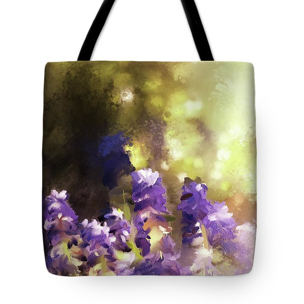 Impressions Of Muscari Tote Bag by Lois Bryan