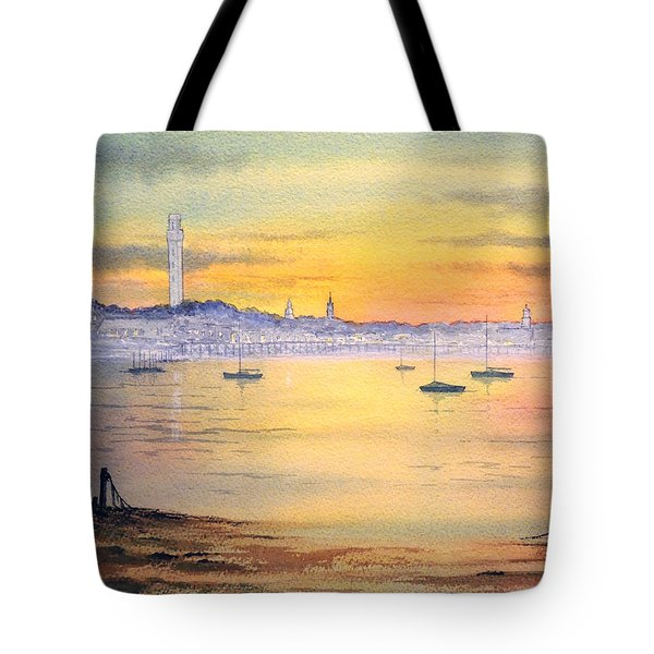 Tote Bag featuring the painting Impressions Of Provincetown by Bill Holkham
