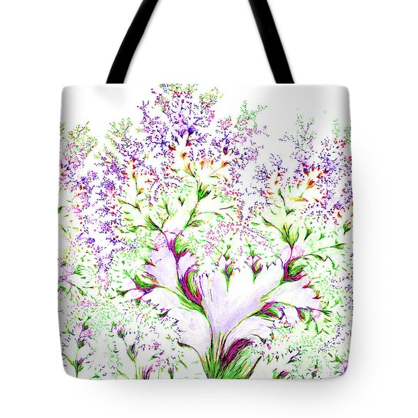 Tote Bag featuring the drawing Impressions Of Spring by Michele A Loftus