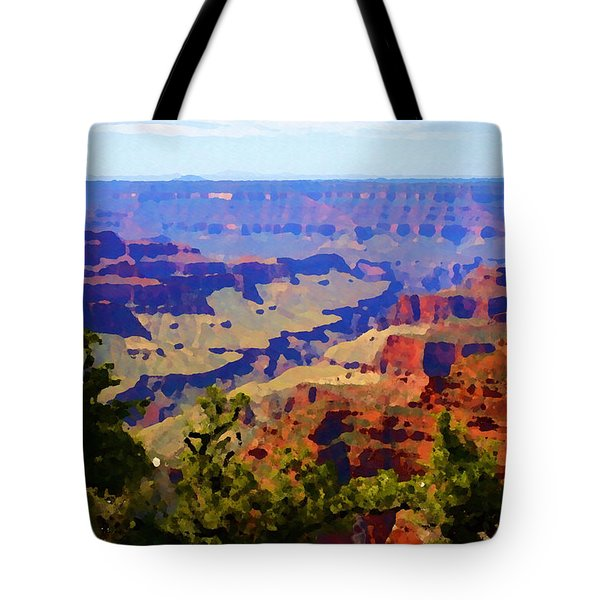 Tote Bag featuring the digital art Impressions Of The North Rim by Shelli Fitzpatrick