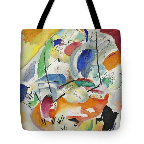 Improvisation  Sea Battle Tote Bag