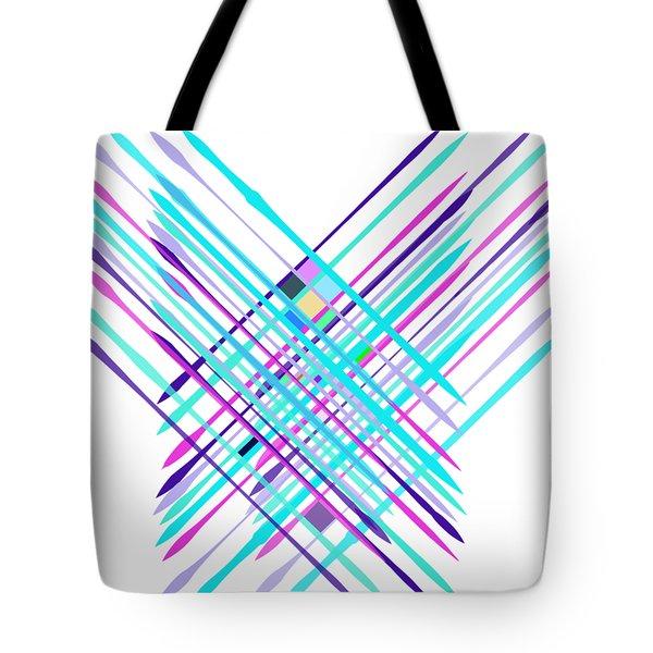 Tote Bag featuring the digital art Improvised Geometry #2 by Bee-Bee Deigner