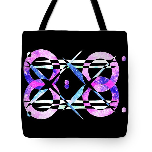 Tote Bag featuring the digital art I Took A Retrofuturistic Journey In Space In 1920 by Bee-Bee Deigner