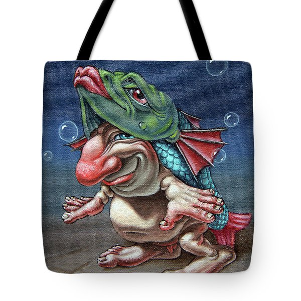 In A Fish Suit. Tote Bag