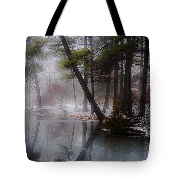 Tote Bag featuring the photograph In A Fog by Kendall McKernon