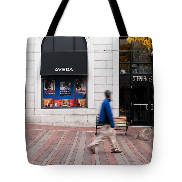 Tote Bag featuring the photograph In A Hurry by Monte Stevens