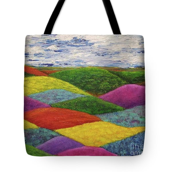 Tote Bag featuring the painting In A Land Far, Far Away by Jane Chesnut