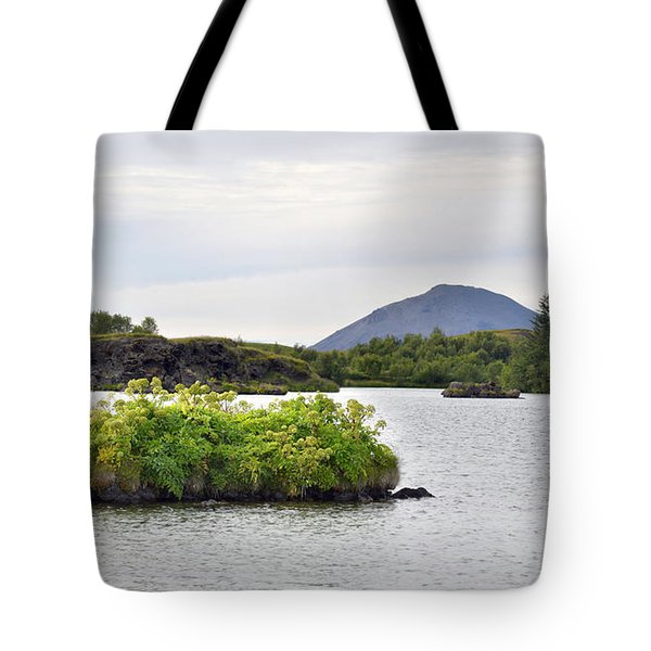 Tote Bag featuring the photograph In An Iceland Lake by Joe Bonita