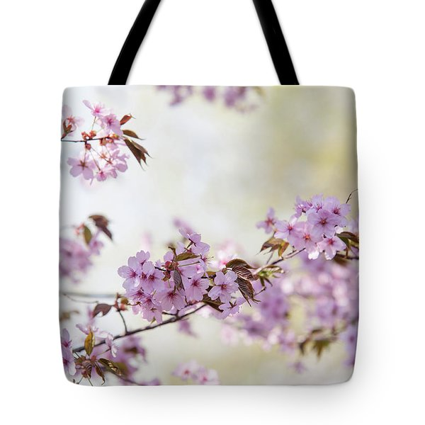 Tote Bag featuring the photograph In Bloom. Spring Watercolors by Jenny Rainbow