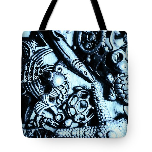 In Blue Nautilus  Tote Bag
