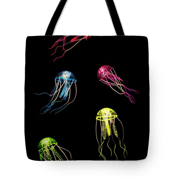 In Colours Of Swirling Jellyfishes  Tote Bag