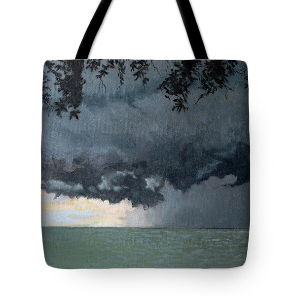 In Coming Storm-epping Forest On The Lake Tote Bag