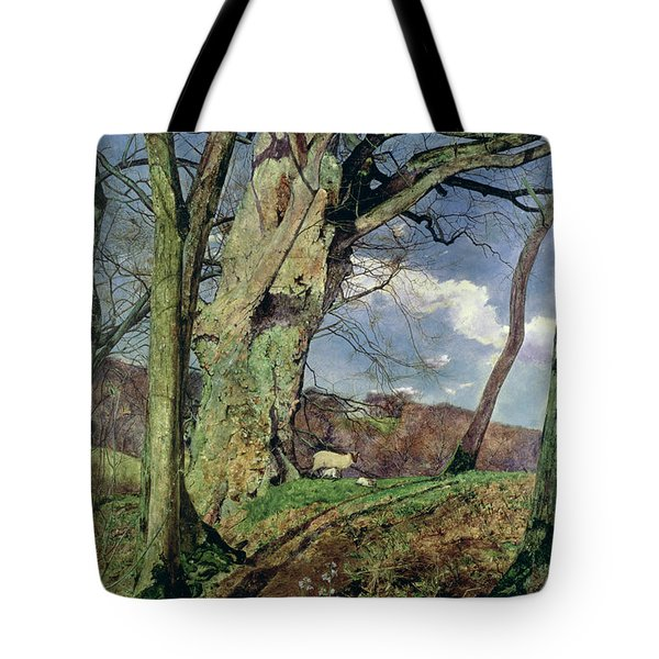 In Early Spring Tote Bag by John William Inchbold