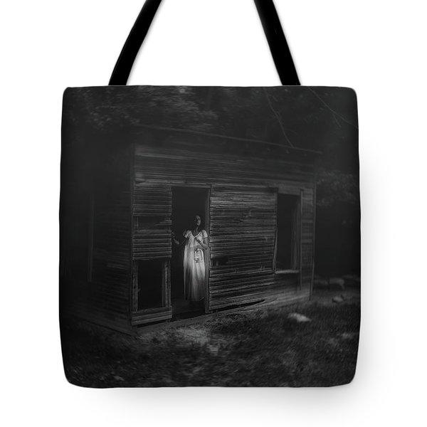 In Fear She Waits Tote Bag
