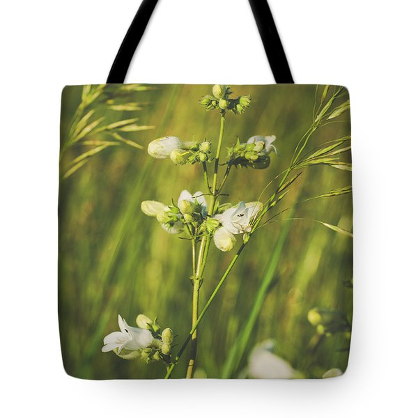 Tote Bag featuring the photograph In Fields Of Gold by Christi Kraft