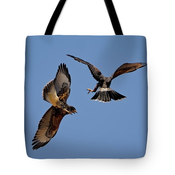 Tote Bag featuring the photograph In Flight Challenge H43 by Mark Myhaver
