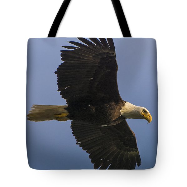 Tote Bag featuring the photograph In Flight by Gary Lengyel