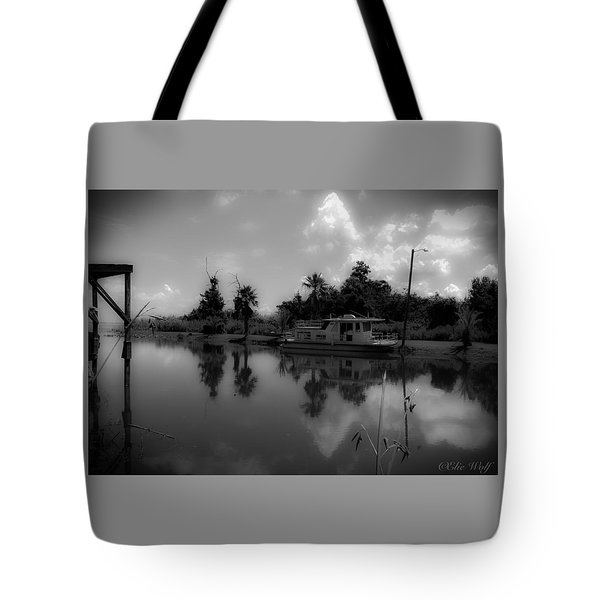 In Florida, A Boat Tote Bag