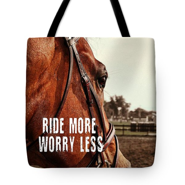In French Cheval Quote Tote Bag