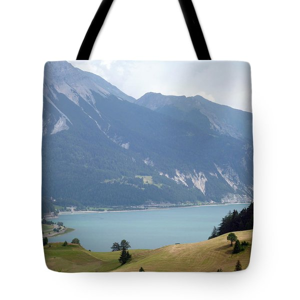 In Front Of The Lake Tote Bag