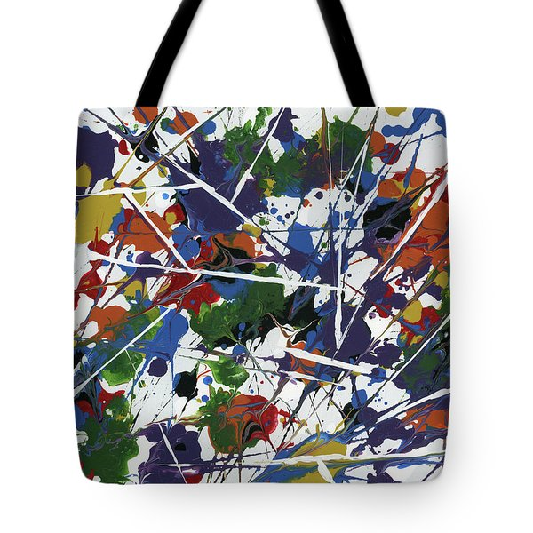 In Glittering Rainbow Shards Tote Bag