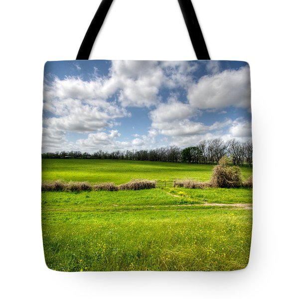 In Green Pastures Tote Bag