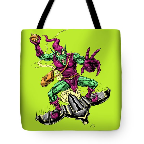 Tote Bag featuring the drawing In Green Pursuit by John Ashton Golden
