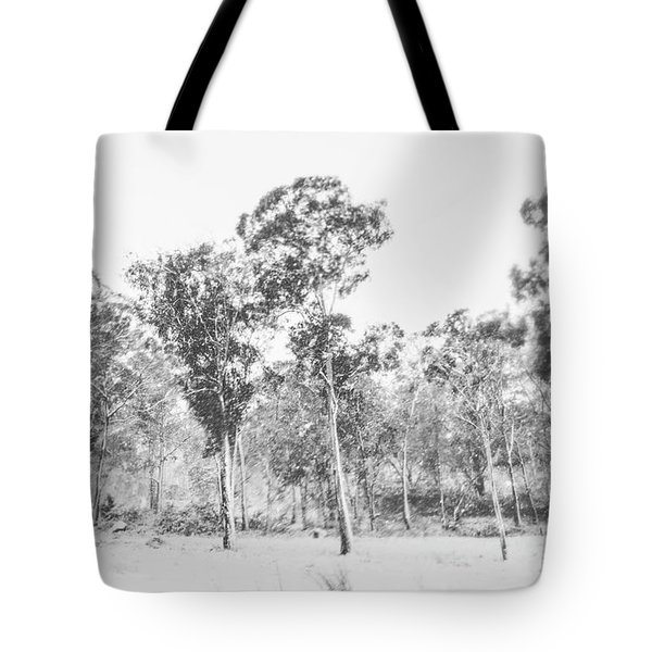 In Gusts Of A Snowstorm Tote Bag