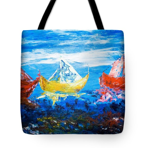 Tote Bag featuring the painting In Harmony by Piety Dsilva