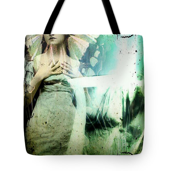 In Her Dreams She Could Fly Unfettered Tote Bag