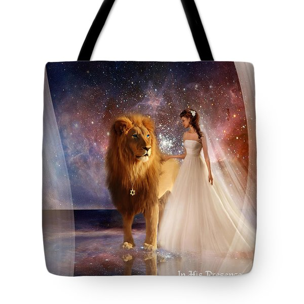 In His Presence  With Title Tote Bag