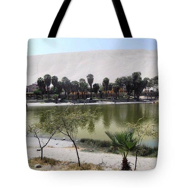 Huacachina Desert Oasis Tote Bag