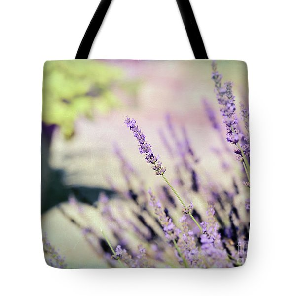 Tote Bag featuring the photograph In Love With Lavender by Kerri Farley