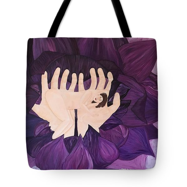 Tote Bag featuring the painting In Loving Hands by Cheryl Bailey