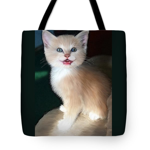 Tote Bag featuring the digital art In Memoriam Baby Gussy by Holly Ethan