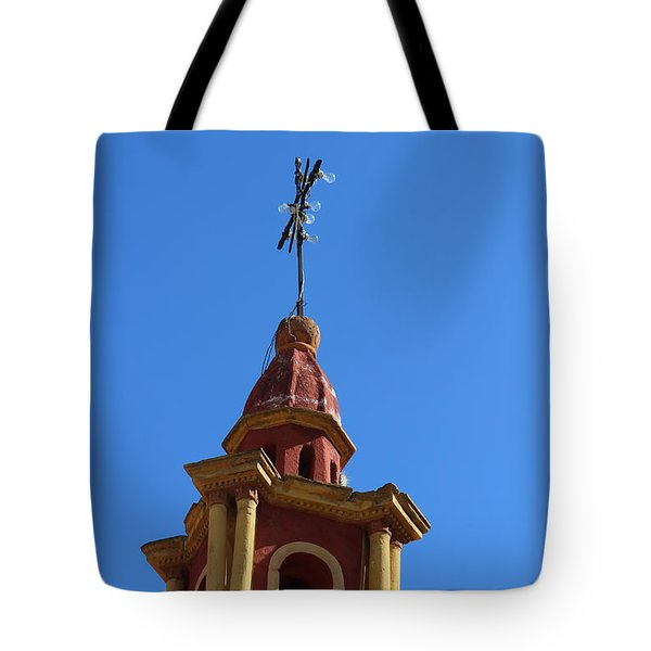 In Mexico Bell Tower Tote Bag