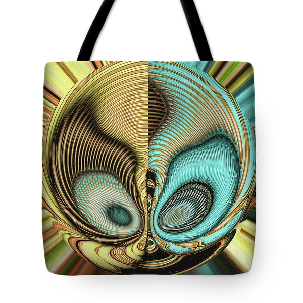 Tote Bag featuring the digital art In My Head by Wendy J St Christopher