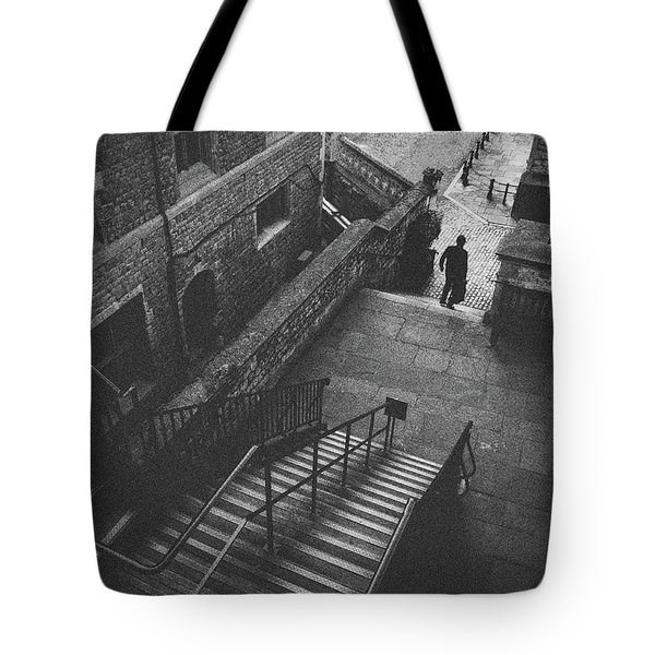 In Pursuit Of The Devil On The Stairs Tote Bag by Joseph Westrupp