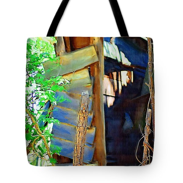 Tote Bag featuring the photograph In Shambles by Donna Bentley